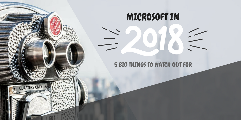 Binoculars representing Microsoft news to watch out for in 2018